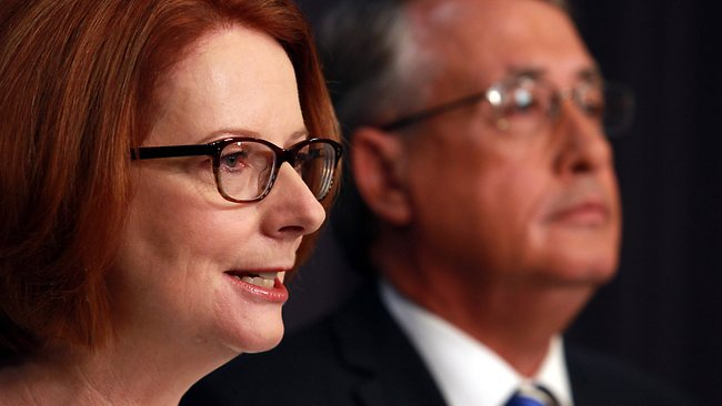 Julia Gillard with Wayne Swan