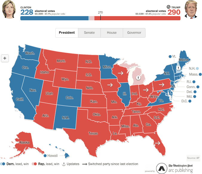 US 2016 Election Map